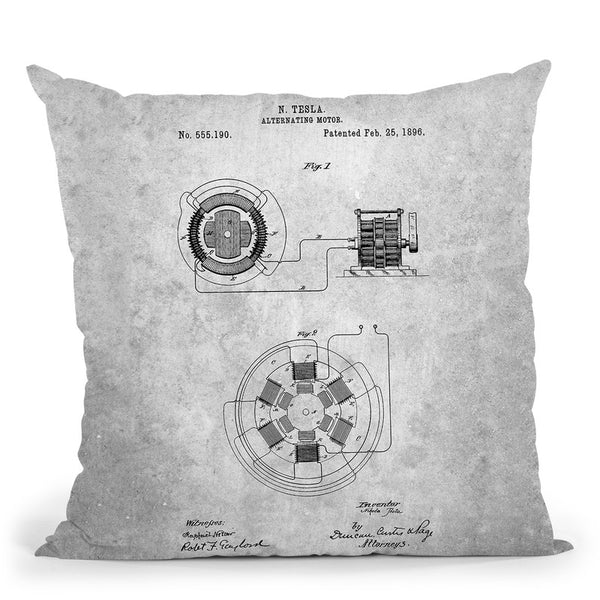 Alternating Motor A Throw Pillow By Cole Borders - All About Vibe