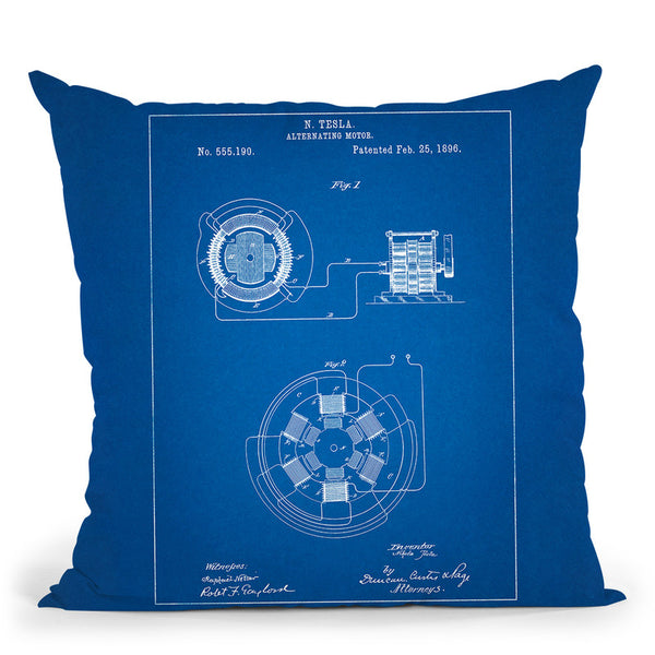 Alternating Motor B Throw Pillow By Cole Borders - All About Vibe