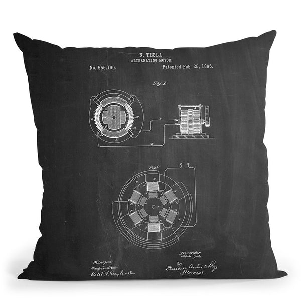 Alternating Motor D Throw Pillow By Cole Borders - All About Vibe