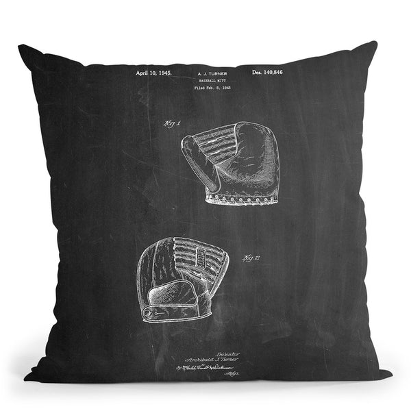 B Glove Throw Pillow By Cole Borders - All About Vibe