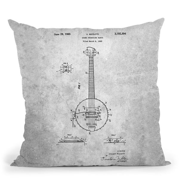 Banjo A Throw Pillow By Cole Borders - All About Vibe