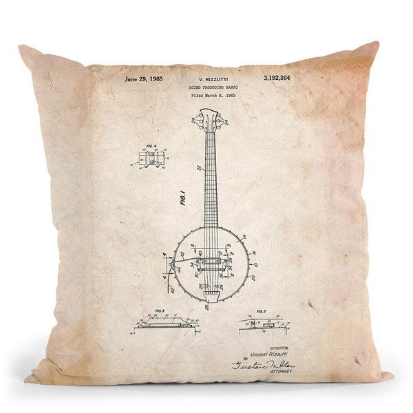 Banjo C Throw Pillow By Cole Borders - All About Vibe