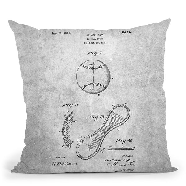Baseball Cover A Throw Pillow By Cole Borders - All About Vibe