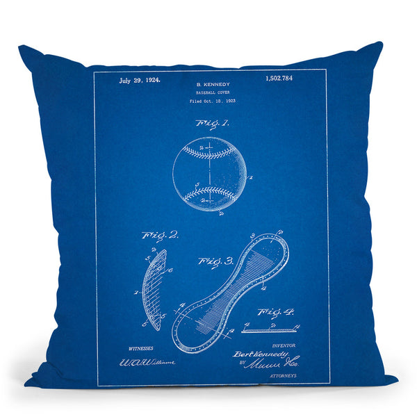 Baseball Cover B Throw Pillow By Cole Borders - All About Vibe