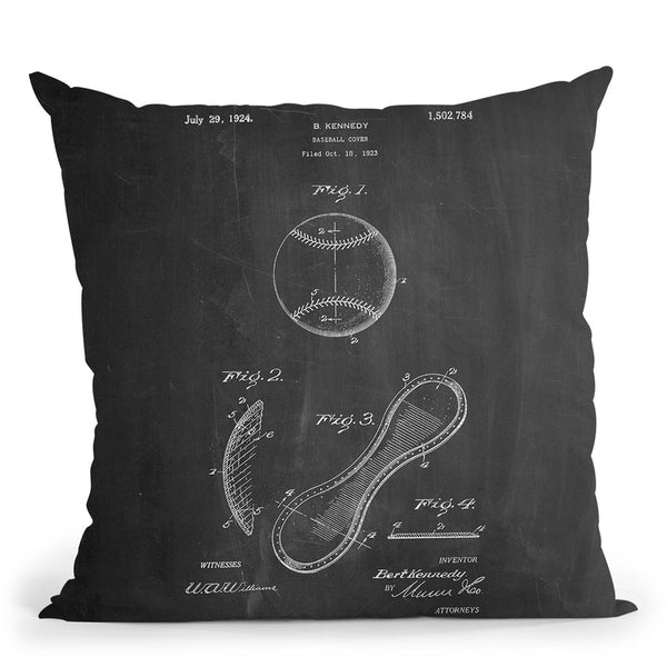 Baseball Cover D Throw Pillow By Cole Borders - All About Vibe