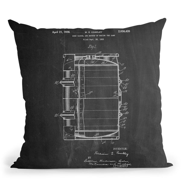 Beer Barrel Throw Pillow By Cole Borders - All About Vibe