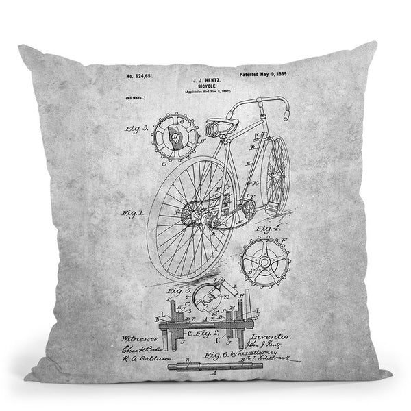 Bicycle A Throw Pillow By Cole Borders - All About Vibe