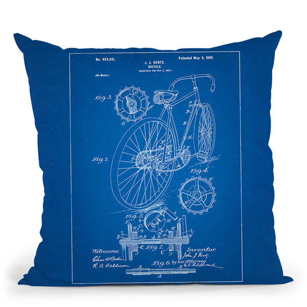 Bicycle B Throw Pillow By Cole Borders - All About Vibe