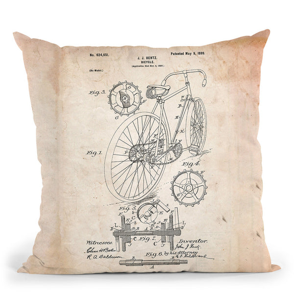 Bicycle C Throw Pillow By Cole Borders - All About Vibe