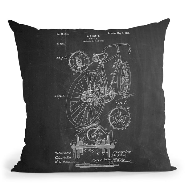 Bicycle D Throw Pillow By Cole Borders - All About Vibe