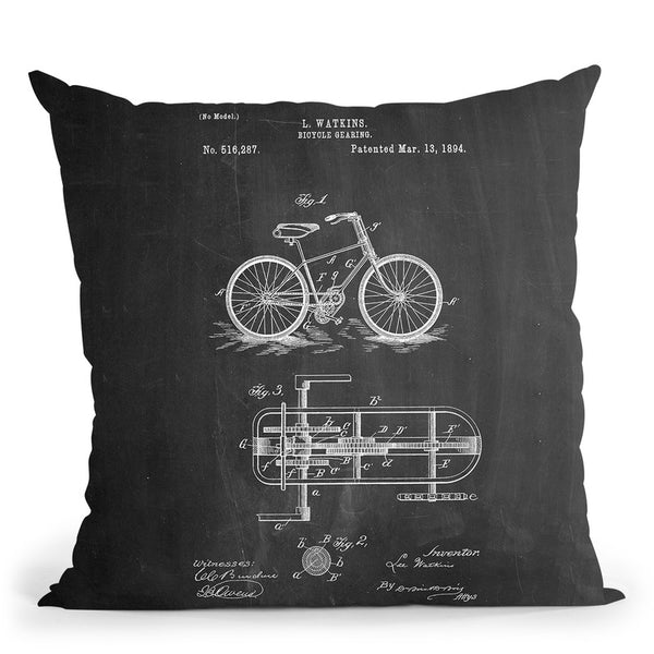 Bicycle E Throw Pillow By Cole Borders - All About Vibe