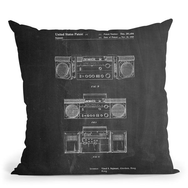Boom Box Throw Pillow By Cole Borders - All About Vibe