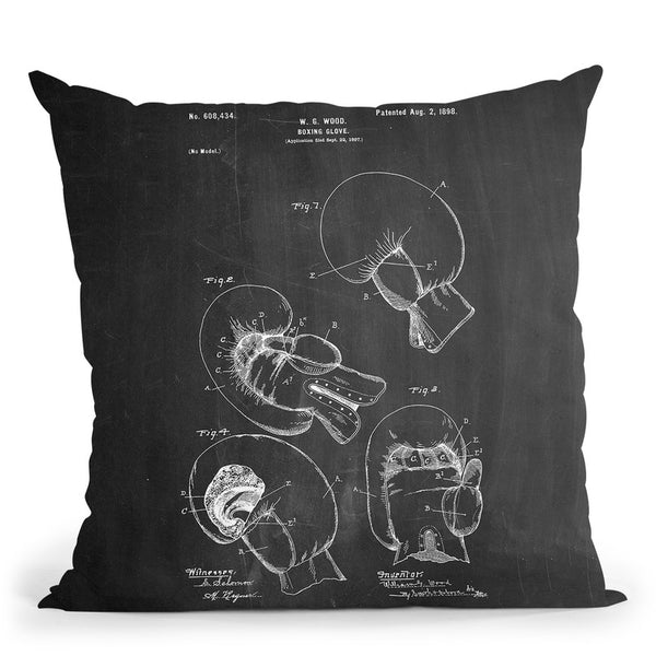Boxing Glove 1898 Throw Pillow By Cole Borders - All About Vibe