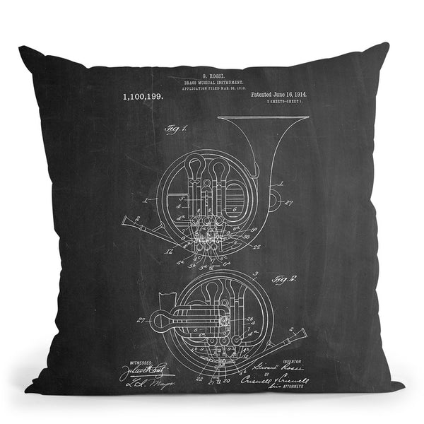 Brass Music Throw Pillow By Cole Borders - All About Vibe