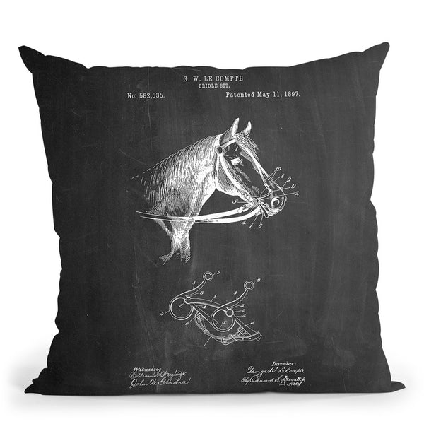 Bridle Brit Throw Pillow By Cole Borders - All About Vibe