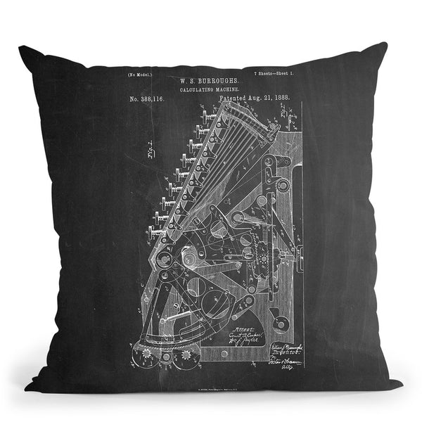 Calculator Throw Pillow By Cole Borders - All About Vibe