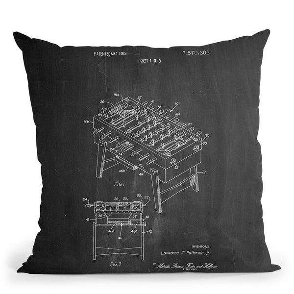 Fooseball Throw Pillow By Cole Borders - All About Vibe