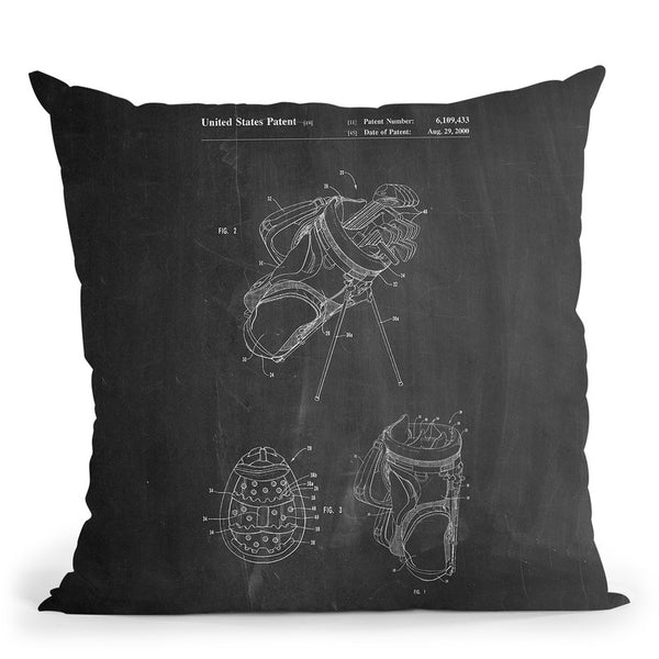 Golf Bag Throw Pillow By Cole Borders - All About Vibe