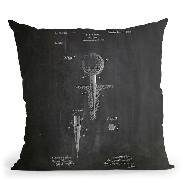 Golf Tee Throw Pillow By Cole Borders - All About Vibe