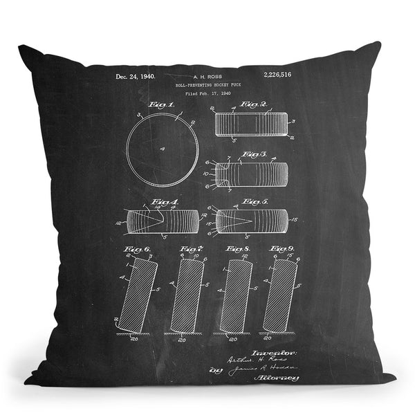 Hockey Puck Throw Pillow By Cole Borders - All About Vibe