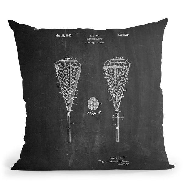 Lacrosse Stick Throw Pillow By Cole Borders - All About Vibe