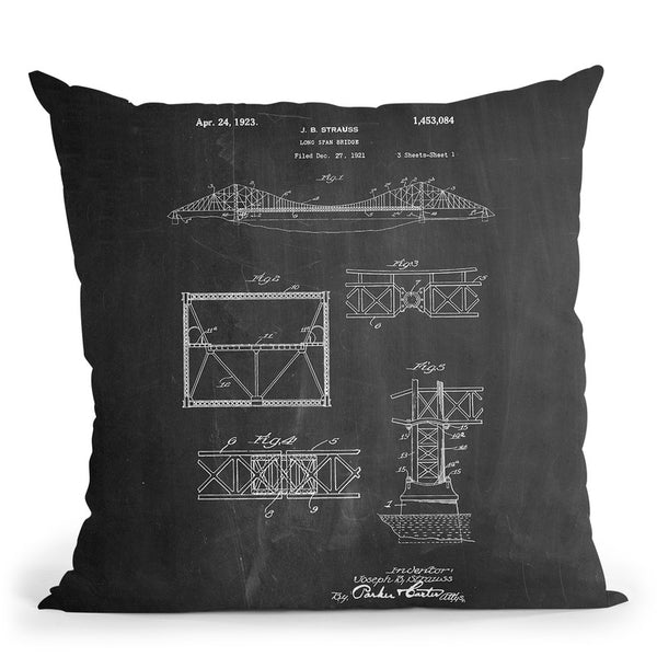 Long Span Bridge Throw Pillow By Cole Borders - All About Vibe