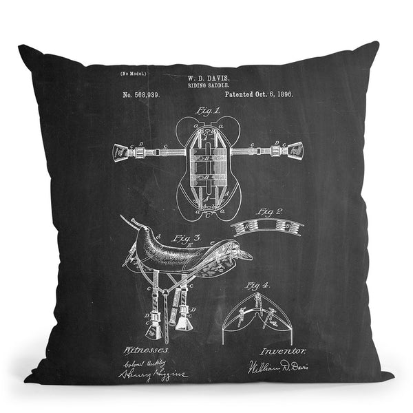 Riding Saddle Throw Pillow By Cole Borders - All About Vibe