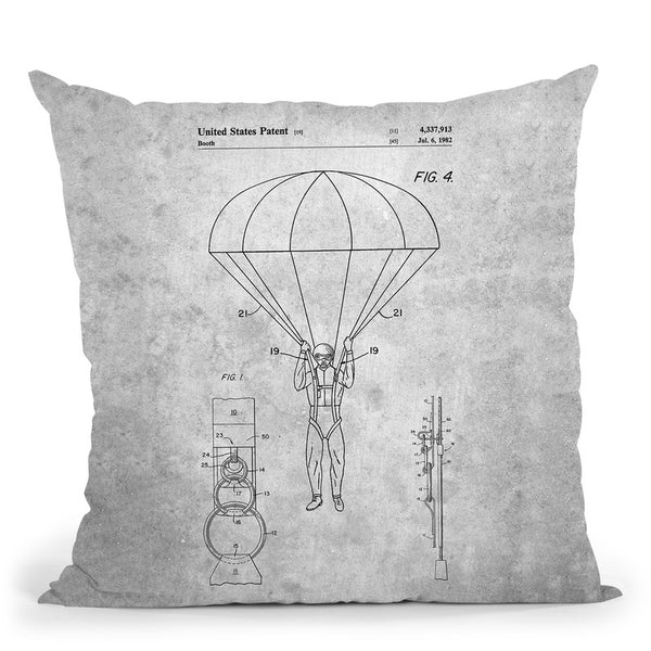 Parachute Blueprint Throw Pillow By Cole Borders - All About Vibe