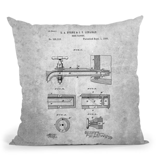 Faucet Blueprint Throw Pillow By Cole Borders - All About Vibe