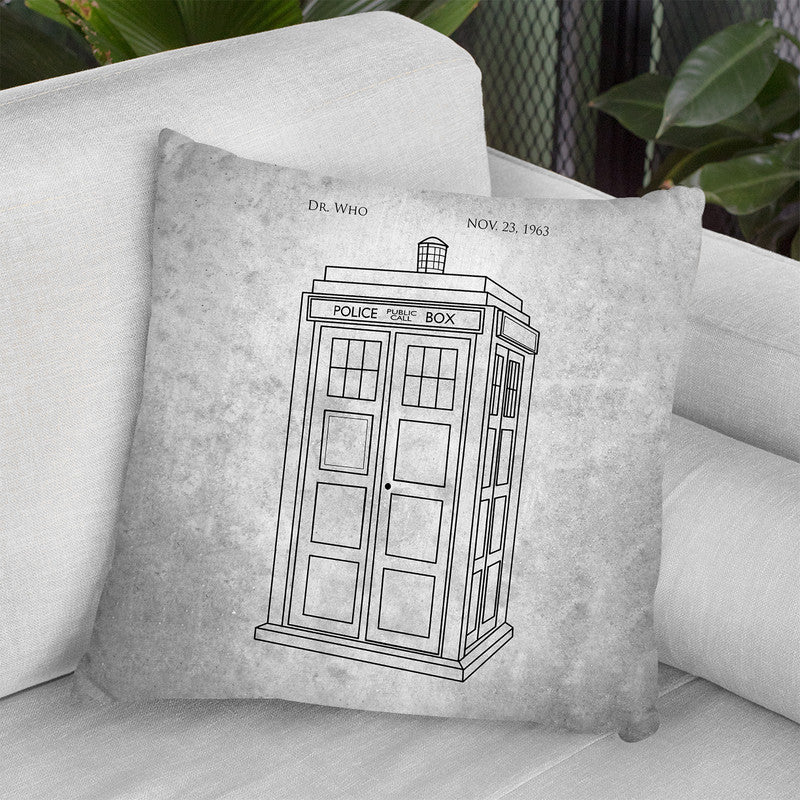 Police Blueprint Throw Pillow By Cole Borders - All About Vibe