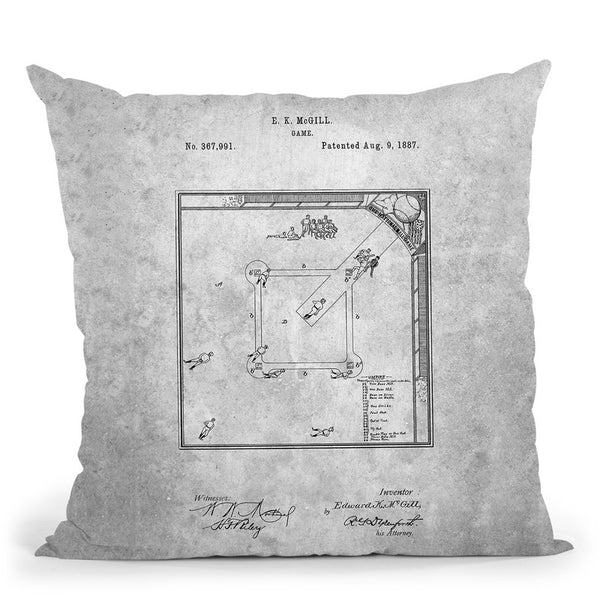 Baseball Field Blueprint Throw Pillow By Cole Borders - All About Vibe