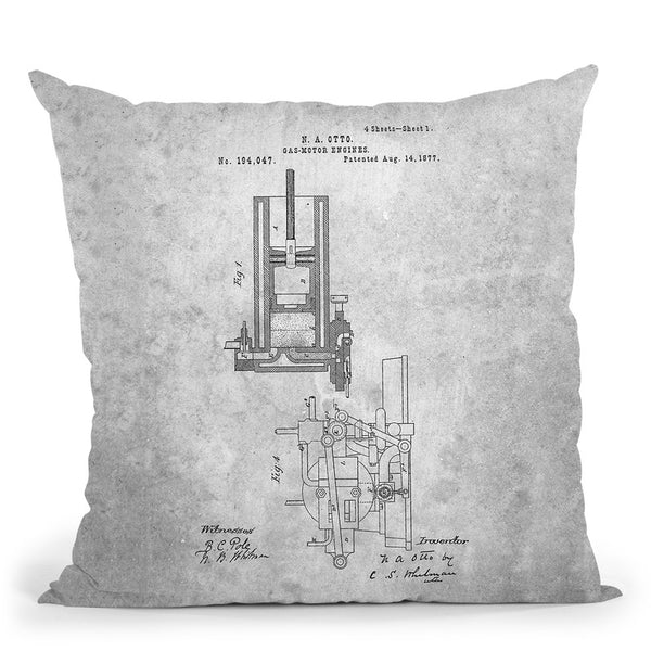 Engine Blueprint I Throw Pillow By Cole Borders - All About Vibe