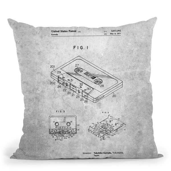 Cassette Blueprint Throw Pillow By Cole Borders - All About Vibe
