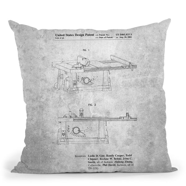 Machine Blueprint Throw Pillow By Cole Borders - All About Vibe