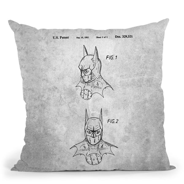 Batman Blueprint Throw Pillow By Cole Borders - All About Vibe