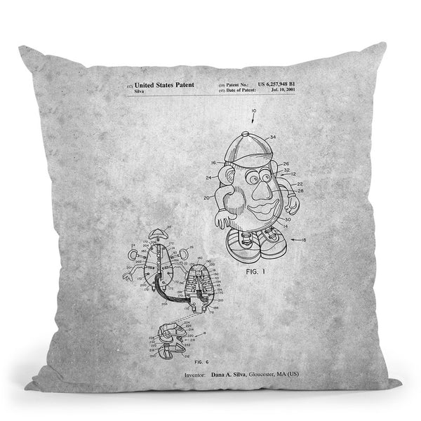 Mister Potato Head Blueprint Throw Pillow By Cole Borders - All About Vibe