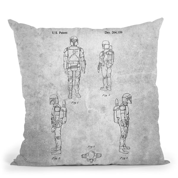 Starwars Blueprint Throw Pillow By Cole Borders - All About Vibe