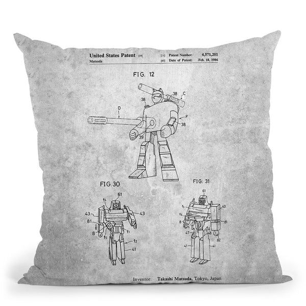 Transformers Blueprint Ii Throw Pillow By Cole Borders - All About Vibe