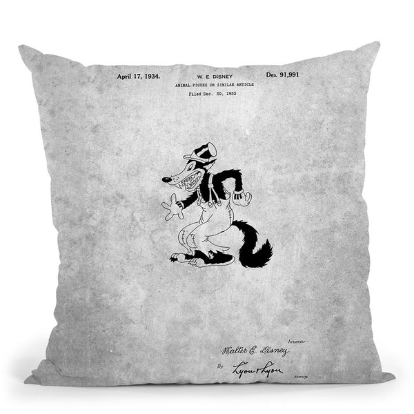 Cartoon Character Blueprint Throw Pillow By Cole Borders - All About Vibe