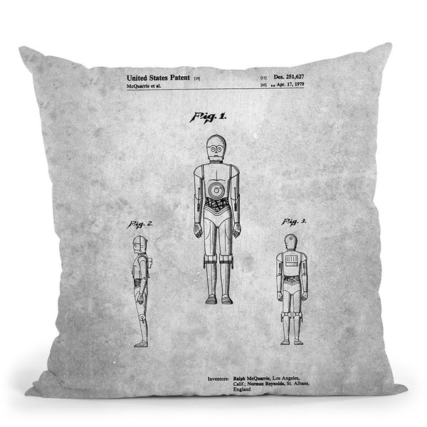 Cp3O Blueprint Throw Pillow By Cole Borders - All About Vibe