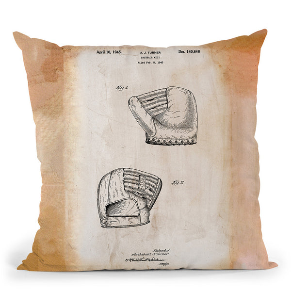 B Glove White Throw Pillow By Cole Borders - All About Vibe