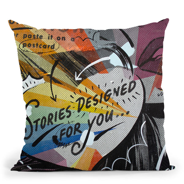 Coupon Stories Throw Pillow By Dan Monteavaro - All About Vibe