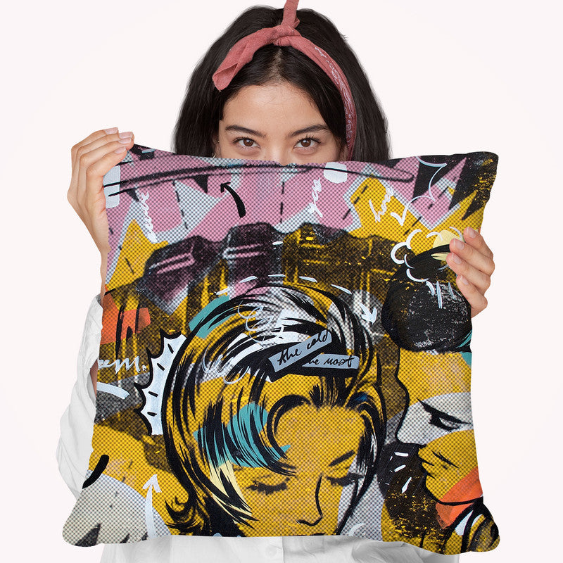 Surprise B Throw Pillow By Dan Monteavaro - All About Vibe