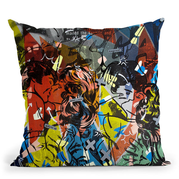 Popularity Everyone Is Doing It Throw Pillow By Dan Monteavaro - All About Vibe