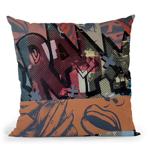 Loud Noises Throw Pillow By Dan Monteavaro - All About Vibe