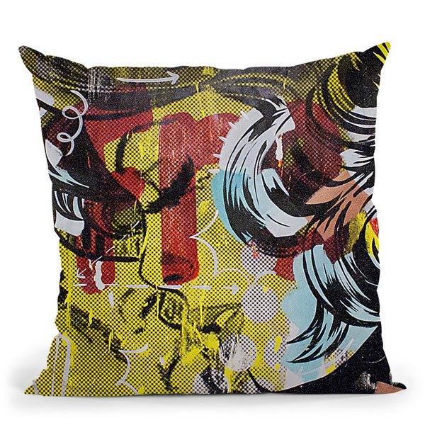 Fret 1 Throw Pillow By Dan Monteavaro - All About Vibe
