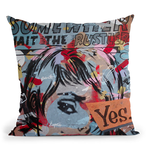 Yes Yes Throw Pillow By Dan Monteavaro - All About Vibe