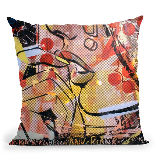 Klank Klank Throw Pillow By Dan Monteavaro - All About Vibe