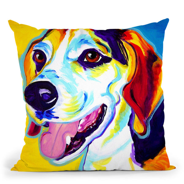 Lou Throw Pillow By Dawgart - All About Vibe