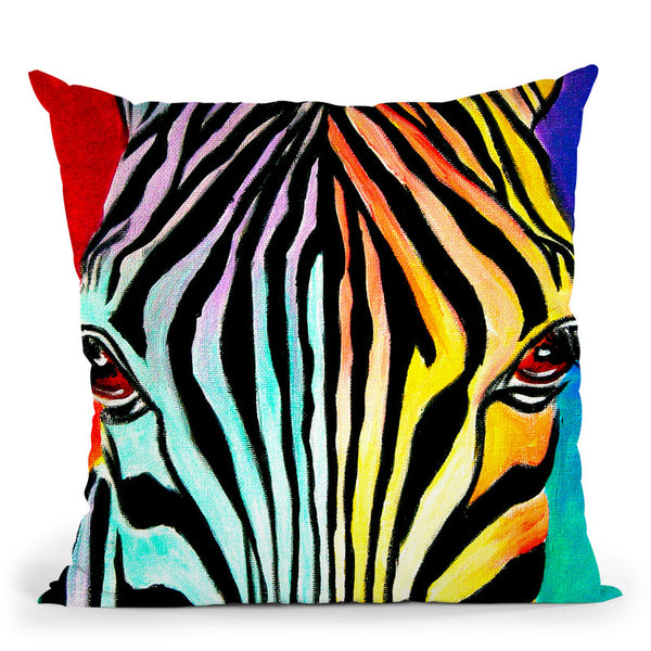 Zebra Throw Pillow By Bob Weer - All About Vibe